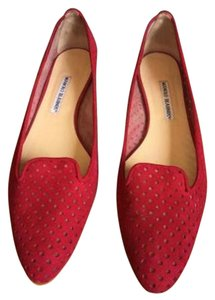Manolo Blahnik Manolo Classics Classic Manolo For Less Fab Find Red Flats