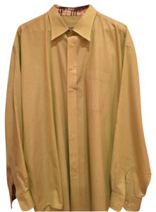 Burberry London Button Down Shirt Yellowish-green (mint)