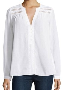 Diane von Furstenberg Top White gauze and lace