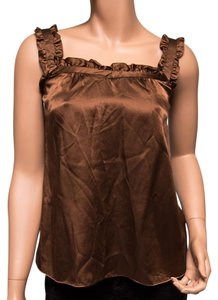 Nanette Lepore Silk Ruffles Top Brown