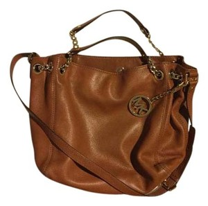 Michael Kors Jetsetter Tote in Brown / gold
