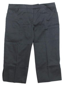 Alexander McQueen Mid Rise Straight Cut Capris Grey