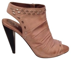 Vince Camuto Party Leather Open Toe Beige Boots
