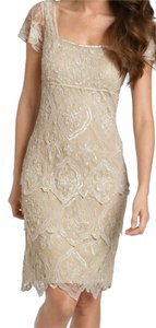 Pisarro Nights Sequin India Cocktail Beaded Cap Sleeves Dress