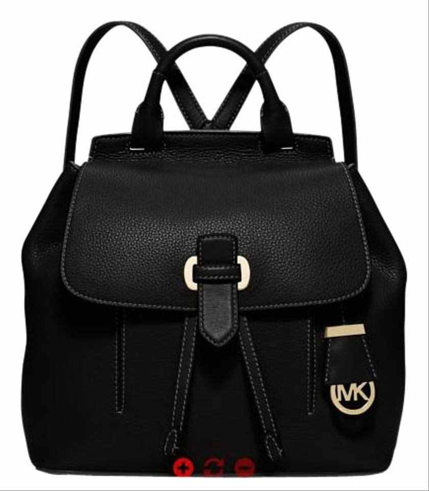 Michael Kors Romy Medium Size Black Leather Backpack - Tradesy