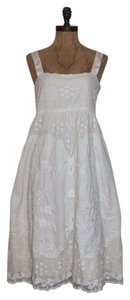 Anthropologie Floral Mesh Embroidered Dress