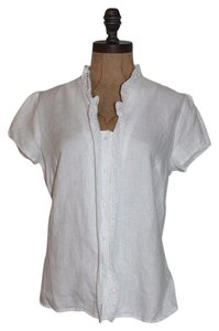 RICHARD MALCOLM Linen Linen Shirt Top WHITE