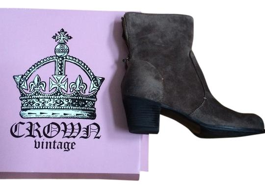 Crown Vintage Grey Suede Boots