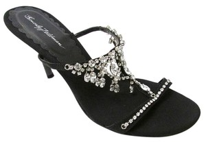 Beverly Feldman Rhinestone Bling Black Formal