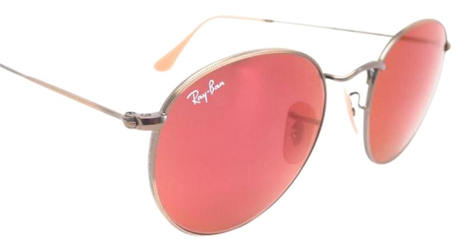 213f652a4e Ray-Ban Round Flash Lenses Sunglasses w  Red Mirror Lenses (RB3447 167  ...