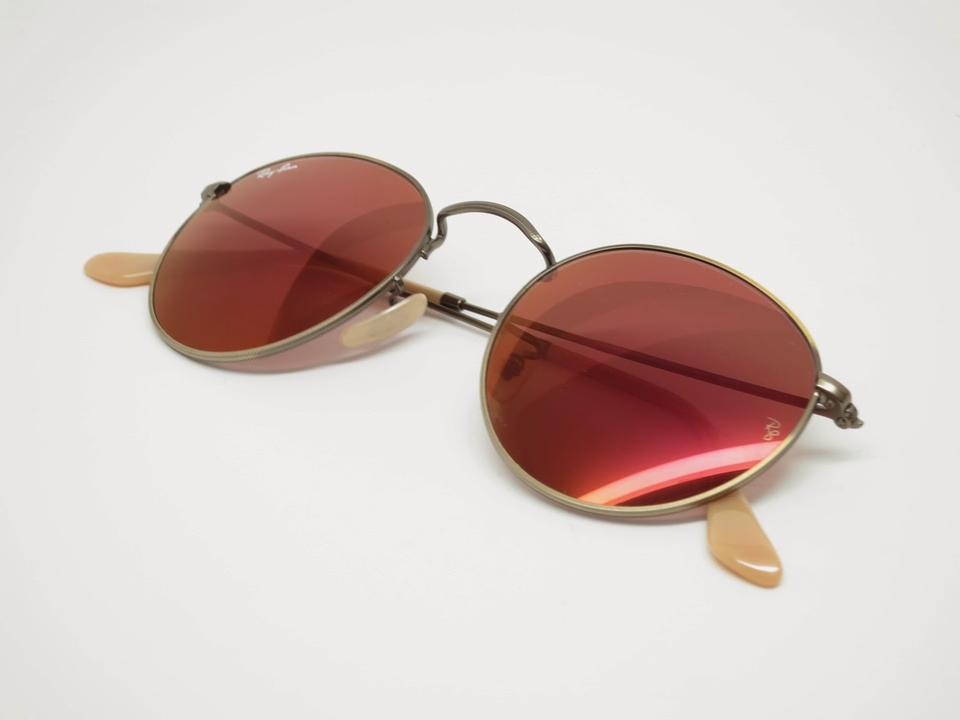 769cb4cb6a Ray-Ban Round Flash Lenses Sunglasses w  Red Mirror Lenses (RB3447 167 .  12345