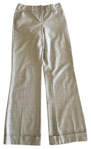 White House | Black Market Dress Wide Leg Pants plaid grey