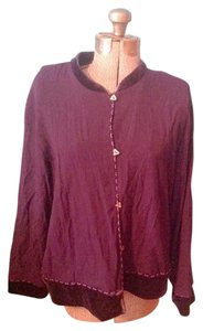Coldwater Creek Triangle Buttons Purple Jacket
