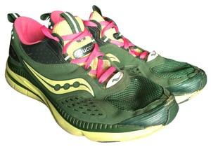 Saucony Dark green/yellow/pink Athletic