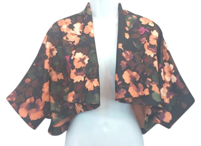 Item - XS Open Front Printed Cropped Blouse Size 2 (XS)