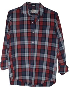 J.Crew Men Men Menswear Mens Button Down Shirt Red Blue