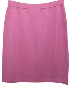 St. John Knit Skirt CYCLAMEN PINK