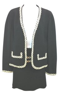 Moschino CHEAP AND CHIC BY MOSCHINO BLACK SKIRT SUIT US 12 I 46