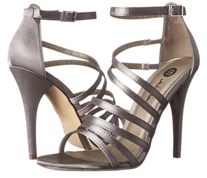 Michael Antonio Pumps Strappy Heels Pewter Sandals