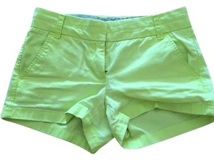 J.Crew Mini/Short Shorts Neon yellow.