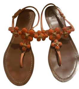 Tory Burch Peach / orange Sandals
