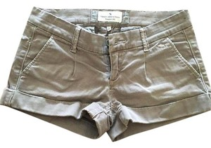 Abercrombie & Fitch Cuffed Shorts Brown