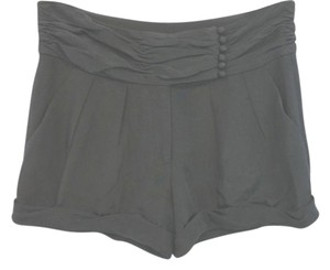Elizabeth and James Black Silk Mini/Short Shorts