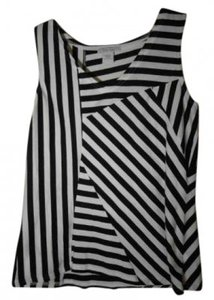 Joan Vass T Shirt Black and White striped