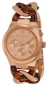 Michael Kors Rose Gold Tortoise Twist Watch MK4269
