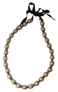 J.Crew Gilded-Edge Pearl Necklace