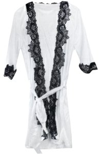 Other White Silk Robe (With Matching Thong)