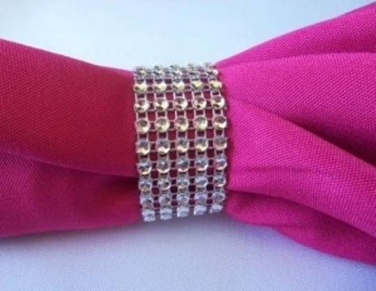 Silver 300 Rhinestone Bling Napkin Rings Or Chair Sash Rows