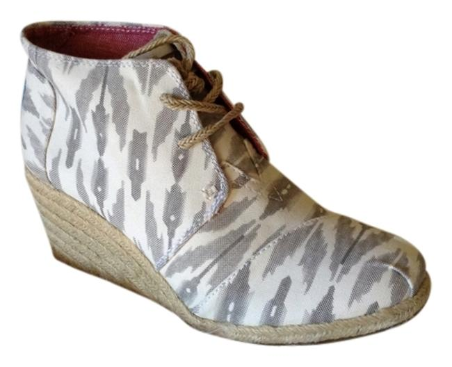 Item - Gray/White Ikat Boots/Booties Size US 7 Regular (M, B)