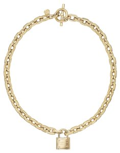 Michael Kors Michael Kors Chain and Padlock Pendant Necklace