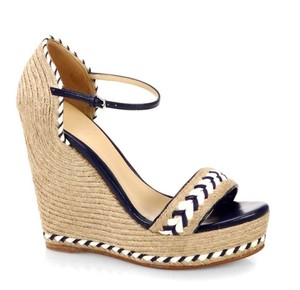 Gucci Spadrilles Blue and white Wedges