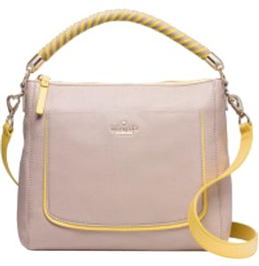 Kate Spade Harris Woods Drive Tote Satchel in Beige
