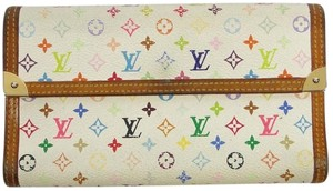 Louis Vuitton Louis Vuitton Monogram Tri-fold Multi White Purse Coin Long Wallet