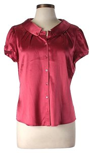 Carolina Herrera Silk Button-down Top Fuchsia
