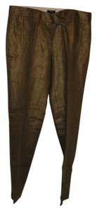 J.Crew Linen Metallic Capri/Cropped Pants Bronze