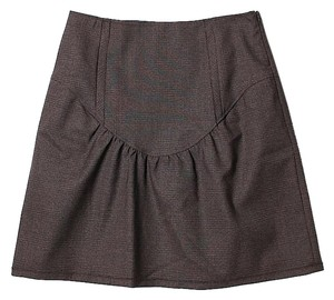 Miu Miu Wool Mini Skirt Brown