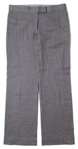 Stella McCartney Linen Flax Low Rise Straight Pants Grey