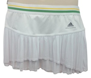 Stella McCartney STELLA MCCARTNEY ADIDAS BARRICADE ELASTIC WAIST PLEATED WHITE TENNIS SKORTS XL