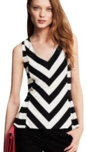 Banana Republic Top Black and Cream