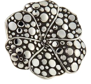 John Hardy size 6.75, Sterling Silver, Ayu dots, Frangipani flower, fashion ring