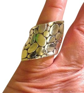 John Hardy sterling silver, dotted, Kali, contour, statement, fashion ring
