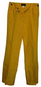 J.Crew Irish Linen Trouser Pants Yellow
