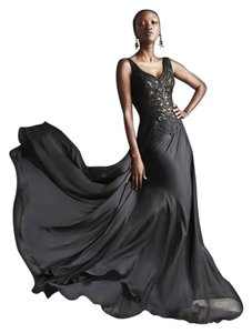 Theia Evening Gown Ball Gown Silk Embroidered Dress