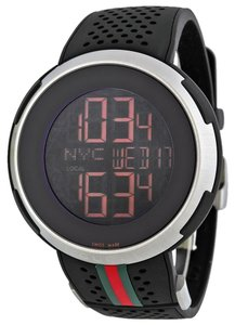Gucci I-Gucci Digital Black Rubber Strap Men's Watch