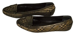 Burberry gold / black / pewter Flats