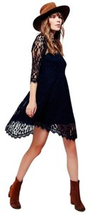 Free People short dress Black Lace Fit And Flare on Tradesy